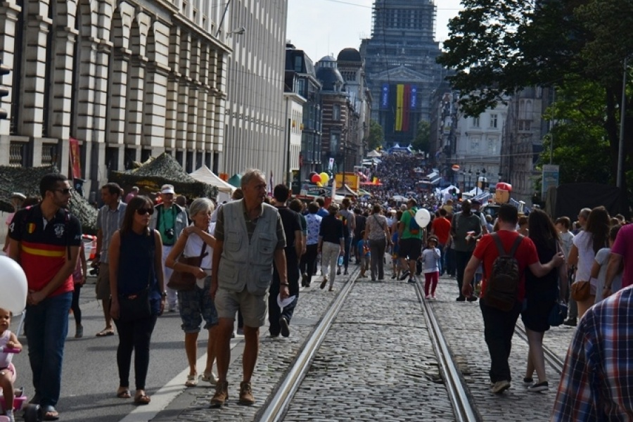 Nationalfeiertag in der Rue de la Régence / Regentschapstraat