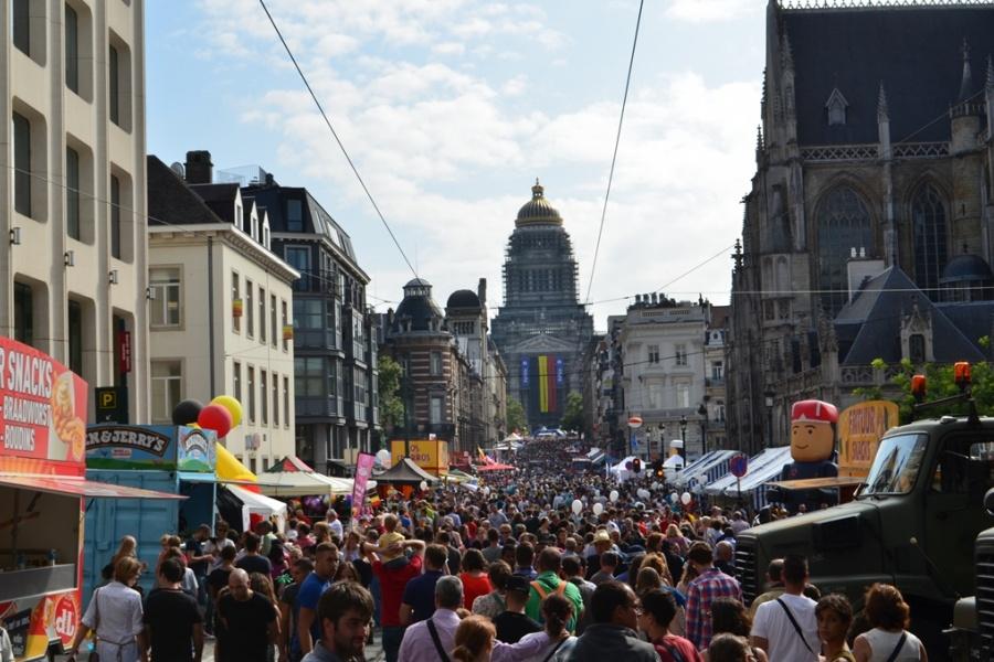 Rue de la Régence / Regentschapstraat am 21. Juli