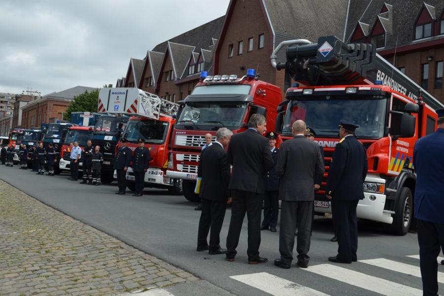 Truppenabnahme - Feuerwehr Antwerpen
