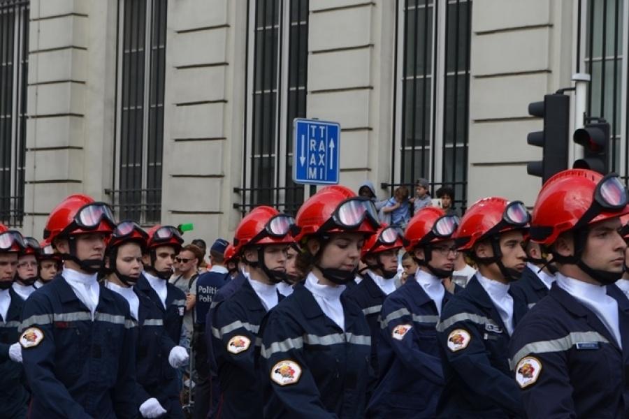 Les jeunes sapeurs-pompiers