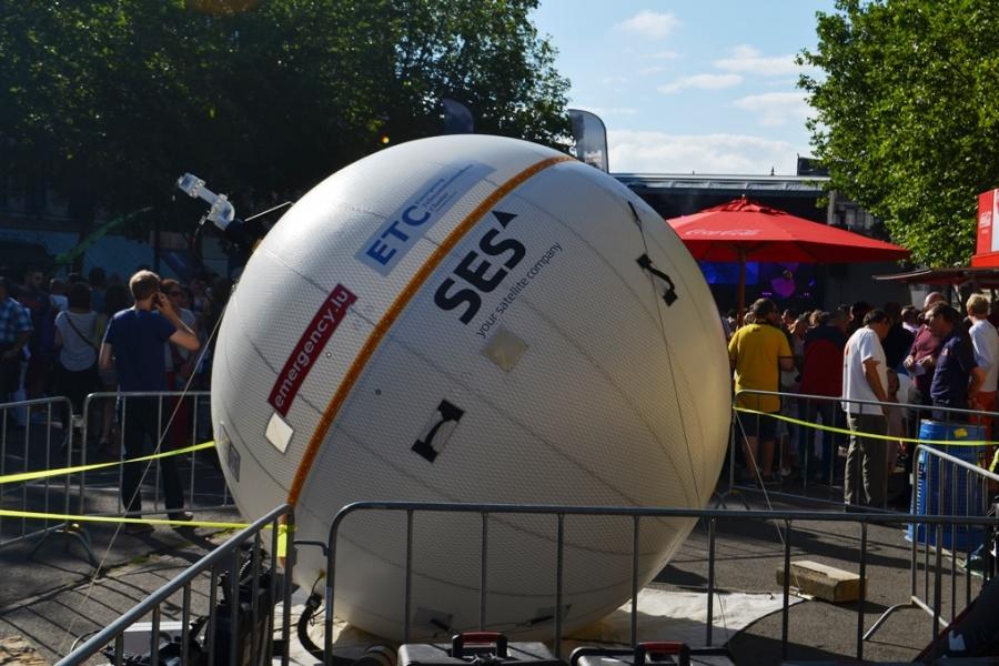 Aufblasbare Satellitenantenne von Emergency.lu