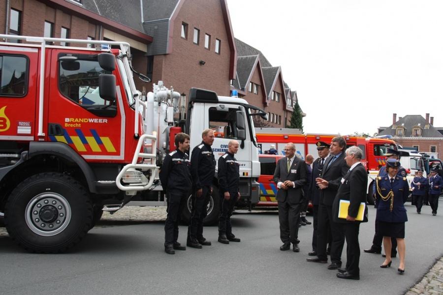 Truppenabnahme - Feuerwehr Brecht (Foto: Dirk Janssens)