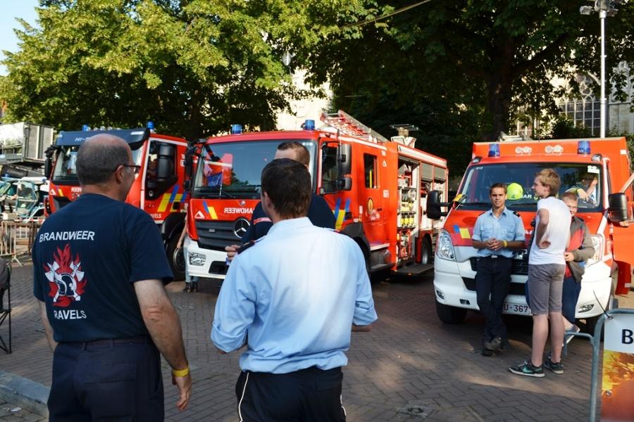 Feuerwehr Ravels am Sablon/Zavel am 21. Juli