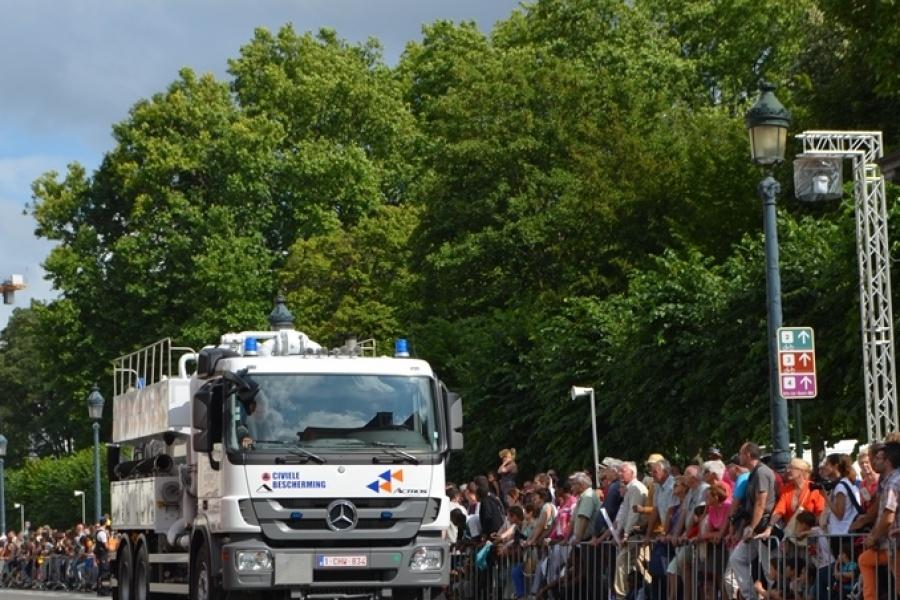 Vakuumtankwagen des Zivilschutzes