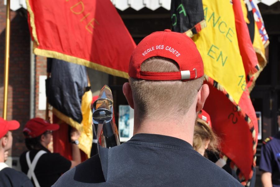 Défilé jeunes sapeurs-pompiers (photo René Huybrechts)