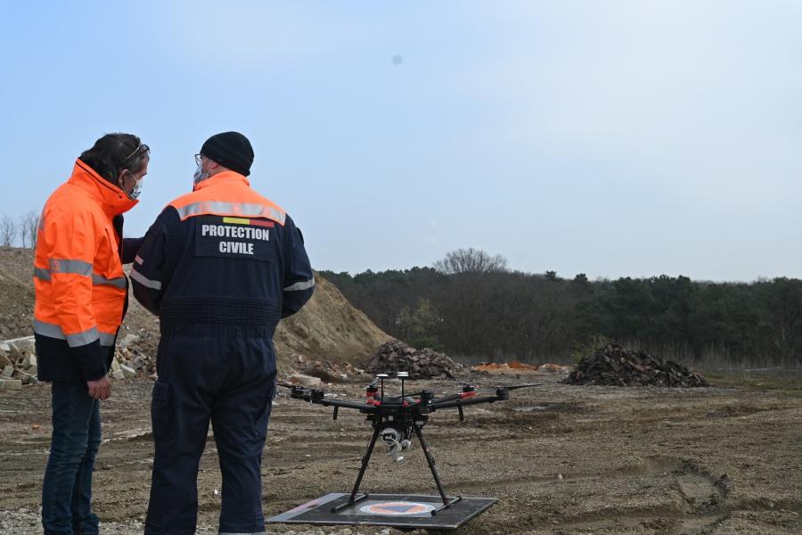 Vlucht van de drone © Geert Biermans