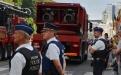Turbojet des Zivilschutzes - BASF und Hebebühne von 50 m der Feuerwehr Antwerpen
