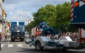 Container de soutien avec supercanon Protection civile