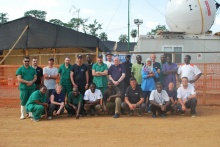 Die Teams der 2. und 3. Ablösung in Guinea.