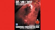 affiche Survival Firefighter Run Waals-Brabant 2017