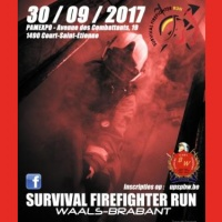 affiche Survival Firefighter Run Waals-Brabant 2017